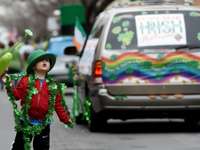 Scenes from the St. Patrick's Day Parade in downtown