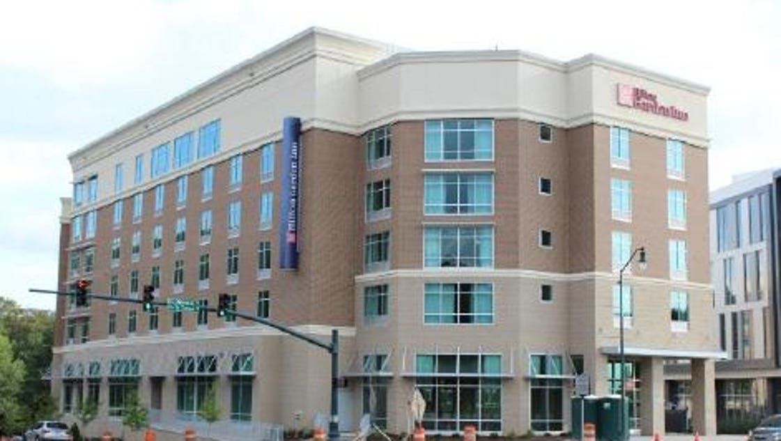 Asheville hotel opens in downtown 39 s east for Hilton garden inn asheville nc