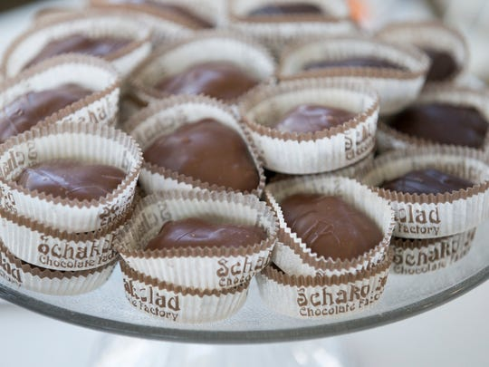 Turtles, as made by Schakolad Chocolate Factory, at the day's Chocolate Fest Indy, at the Dallara IndyCar Factory, Indianapolis, Saturday, October 17, 2015. The event benefits various local arts in education programs.