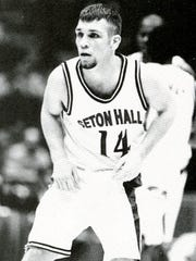 John Yablonski playing for Seton Hall in the mid-1990s
