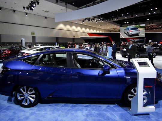 The 2019 Honda Clarity is displayed after it was announced