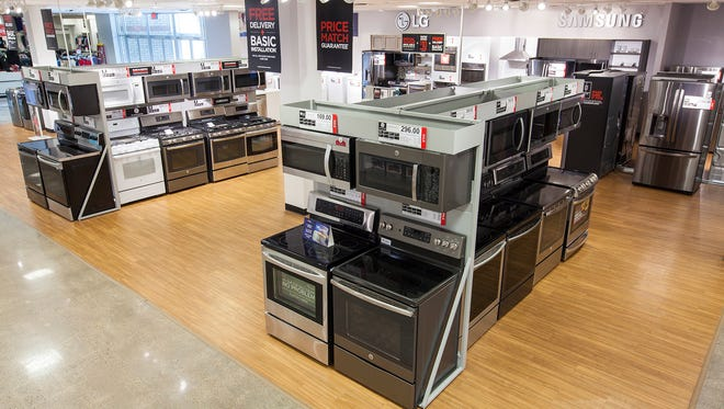 The J.C. Penney stores at the Indian River Mall and Melbourne Square will start selling appliances on May 19.
