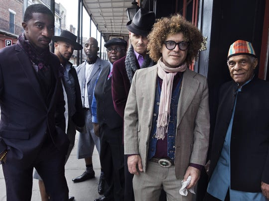 "Ben Jaffe (second from right) and the Preservation Hall Jazz Band. The group's new album is titled ""So It Is."""