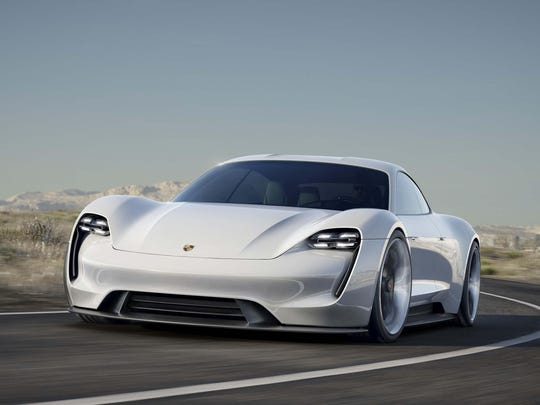 Porsche's all-electric Mission E is expected to go on sale in 2019.