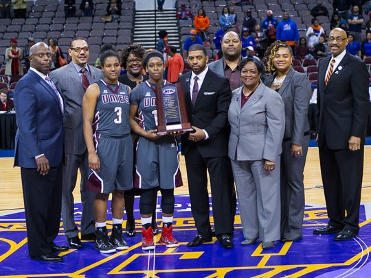 The UMES women's basketball team receives its runner-up