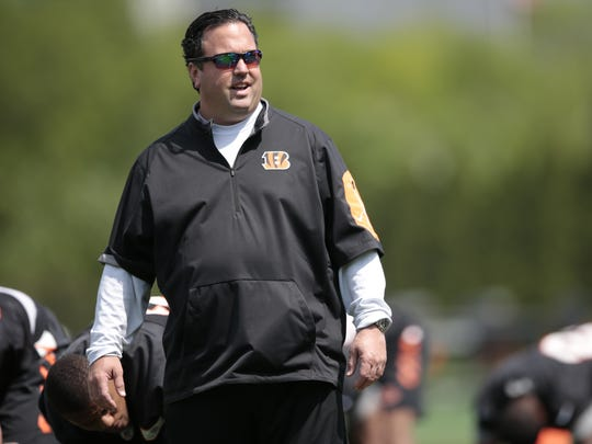 Bengals defensive coordinator Paul Guenther