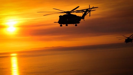 The U.S. Marines Corps said Friday morning there was an active search after two helicopters collided off Hawaii.