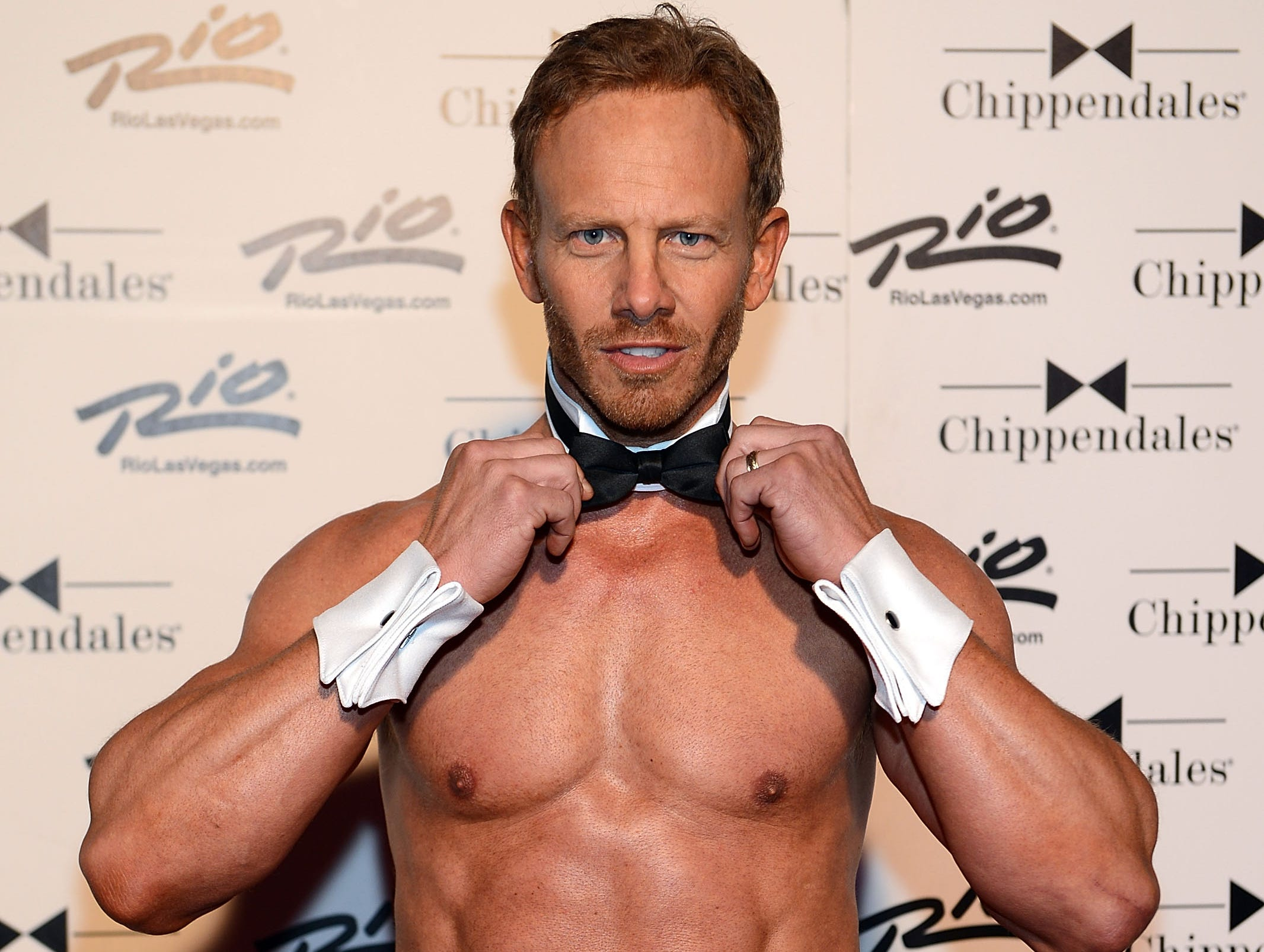 Ziering now: A 49-year-old married father of two, Ziering went, yes, shirtless on a red carpet with his fellow strippers in June.   Measure of metamorphosis: 3