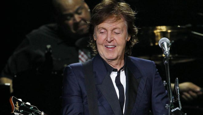 Paul McCartney performs at Miller Park in Milwaukee, Wisconsin, July 16, 2013 as part of his Out There tour.  Journal Sentinel photo by Rick Wood/RWOOD@JOURNALSENTINEL.COM