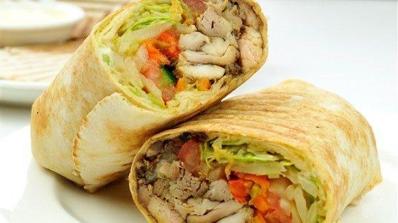 A shawarma sandwich at Ali Baba Shish Kabob restaurant in Hamtramck.