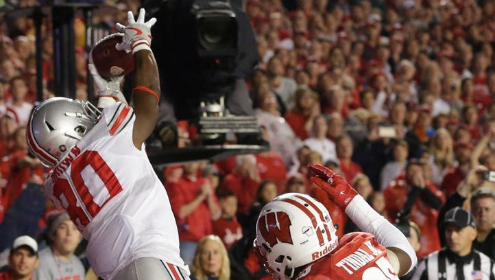 Ohio State receiver Noah Brown catches the game-winning
