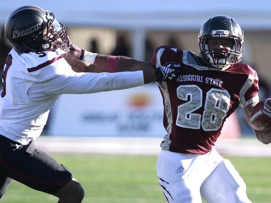 Calan Crowder rushed for 762 yards in 2014, a record for a Missouri State freshman.