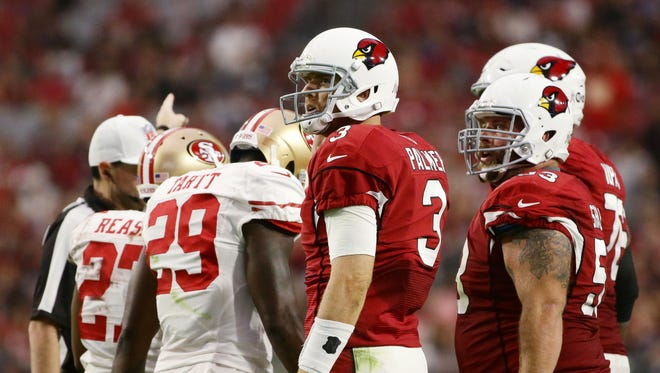 Arizona Cardinals' Carson Palmer against the San Francisco 49ers in the 2nd half on Nov. 13, 2016 in Glendale, Ariz.