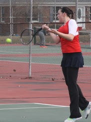 Kendall Payne was the Patriots' No. 1 singles player