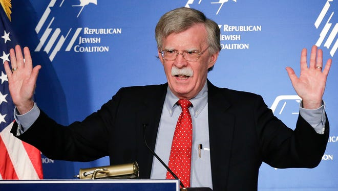 Former U.S. ambassador to the U.N. John Bolton speaks at the Republican Jewish Coalition, March 29, 2014, in Las Vegas.