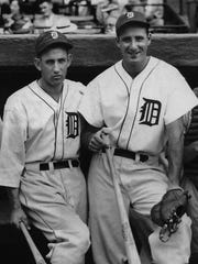 Hank Greenberg, right, and Charlie Gehringer