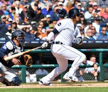 The Tigers manager says moving Martinez out of the...