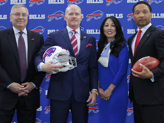 The Bills' brain trust will be in Indianapolis meeting with prospective draft candidates at the combine.