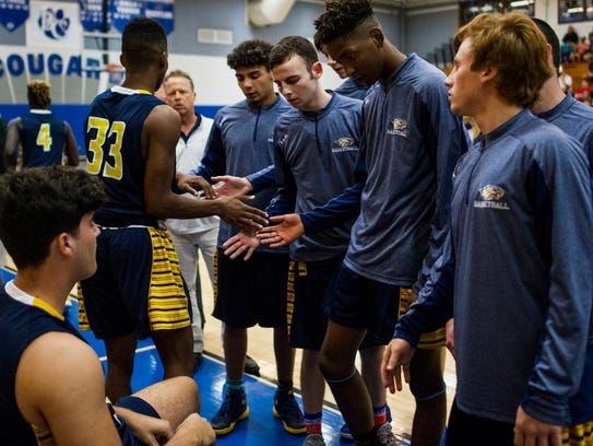 Naples High School's team before the Class 7A-District
