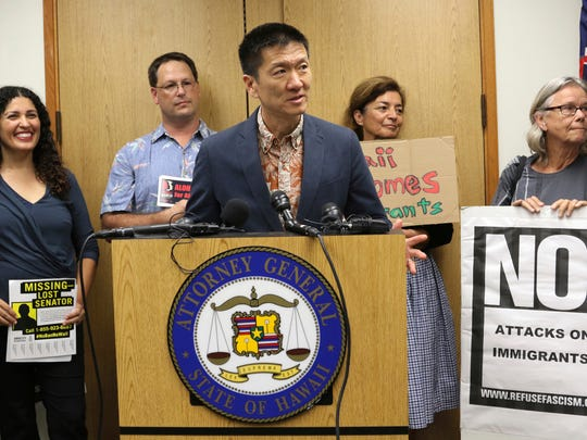 Hawaii Attorney General Douglas Chin led his Democratic colleagues in challenging the Trump administration's travel ban.