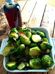 Maple-roasted Brussels sprouts are irresistible.