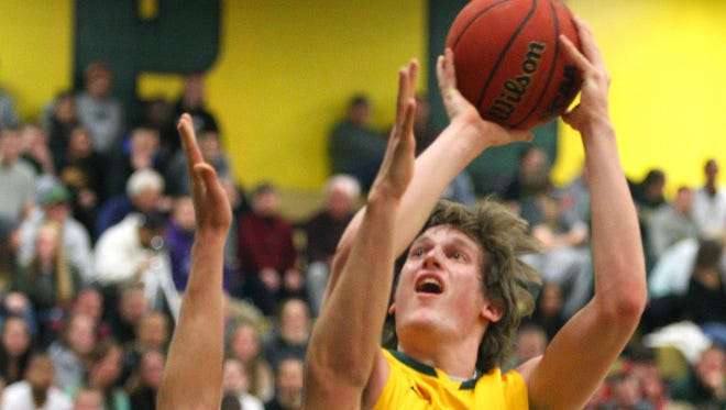 Brockport's Patrick Coyle goes to the basket.