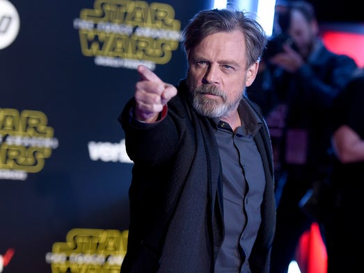 "Mark Hamill arrives at the world premiere of ""Star"