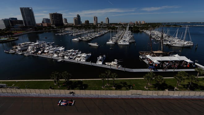 The track at St. Petersburg, Fl., site of the first race of the IndyCar season Sunday.