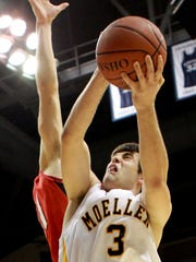 Alex Barlow scored all of Moeller?s points during overtime in a 2010 regional final win over La Salle.  Enquirer file Ohdibhoops20 Sports Friday March 19, 2010: Moeller Alex Barlow (3) goes up for a shot and gets fouled by LaSalle Matthew Woeste (21) in overtime. Moeller High School battles LaSalle High School in a division I basketball game at Cintas Center at Xavier University Friday March 19, 2010 in Evanston. Moeller won 48 to 41 in overtime. The Enquirer/ Joseph Fuqua II