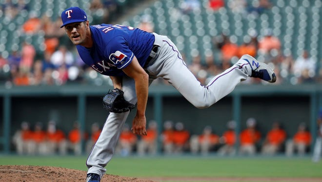 """Texas Rangers pitcher Cole Hamels says a potential trade that would return him to the Philadelphia Phillies would be a """"blessing."""" AP FILE PHOTO"""