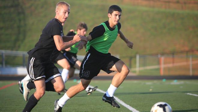 North Buncombe's soccer team beat Reynolds, 2-1, on Wednesday night.