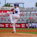 Blue Wahoos pitcher Deck McGuire