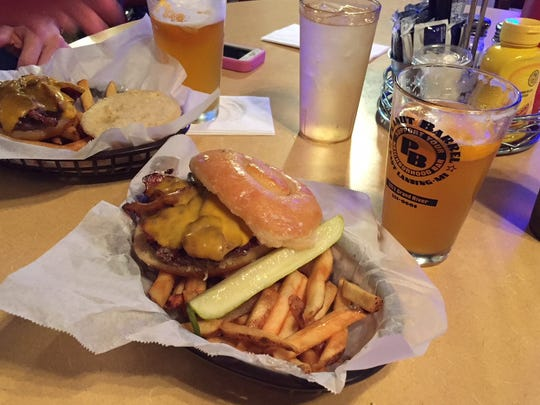 """A """"test"""" donut rodeo burger for National Doughnut Day."""