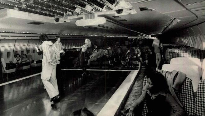 The airplane motif is evident in this photo of the dance floor area of Club 747 at 2525 West Henrietta Road in Brighton.