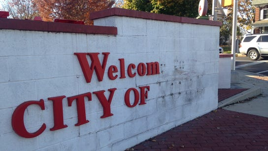 This welcome sign, seen Wednesday at Turkey Hill's