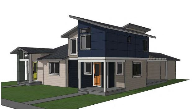 A rendering shows a home as part of the proposed Sanctuary West project in northwest Fort Collins.