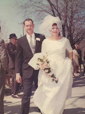 Lee and Jim Conlon on their April 16, 1966 wedding day.