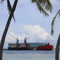 Dry dock moved from Guam for repairs