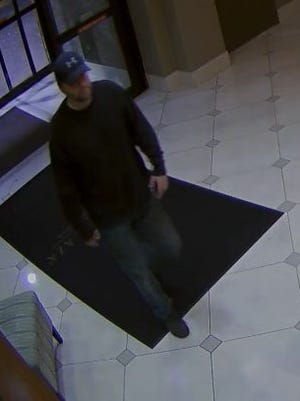 Police are looking for this man, who they say stole $1,000 worth of perishable food from Claymont-area hotel.
