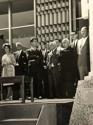 A photo from the mall's dedication and opening in 1961.