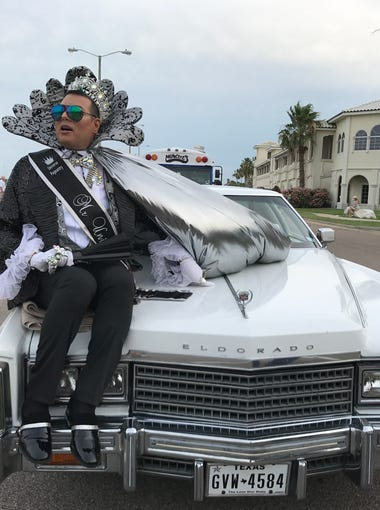 Mr. Gay Universe Skyler Bellavia participated in Corpus Christi's first city-sanctioned LGBTQ+ pride parade Saturday, June 3, 3017.