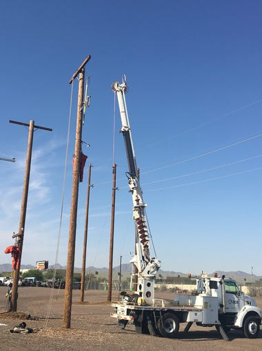 The work site where APS linemen train to quickly restore power after outages.