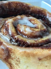 A cinnamon roll from Perk & Brew in Cape Coral.