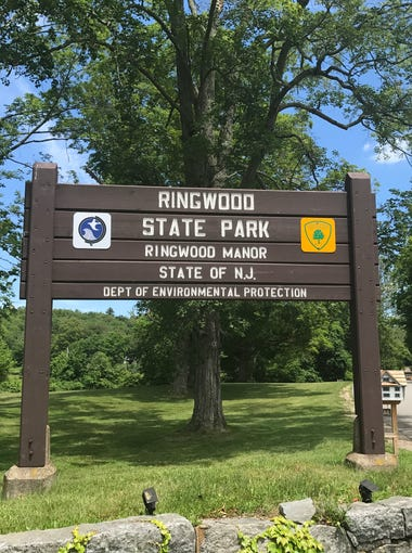 The entrance to Ringwood State Park and Ringwood Manor as seen last month.