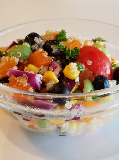 Rainbow quinoa salad might be one of nine deli salads you'll find every day at Planter's.