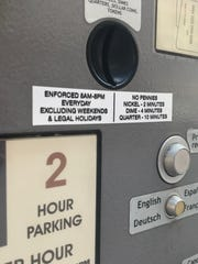 New pay parking hours on a City of Rochester parking meter