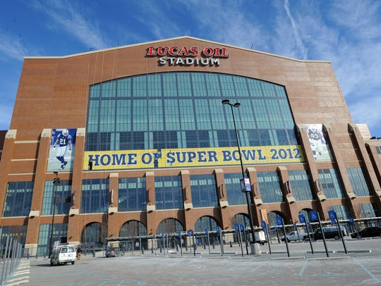 Lucas Oil Stadium, built in 2008, hosted Super Bowl