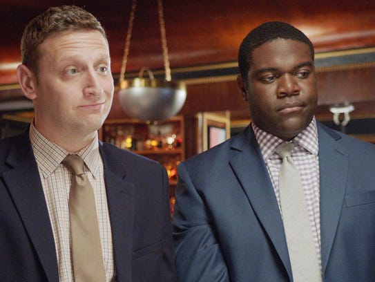 "Tim Robinson, left, and Sam Richardson star in ""Detroiters."""