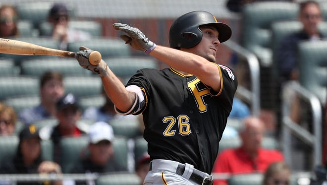 Adam Frazier has been an effective leadoff man for the Pittsburgh Pirates, but last week he showed some power with a pair of home runs.