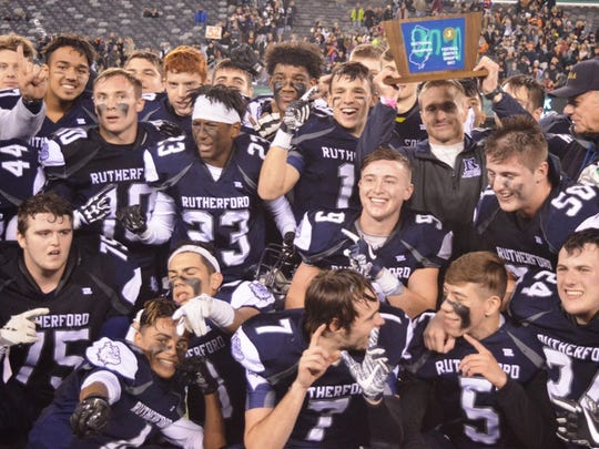 Rutherford took home its first state sectional title as the Bulldogs defeated Hackettstown, 21-13, at MetLife Stadium in North 2, Group 2 final.